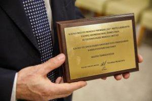 KTU Professor Sigitas Tamulevičius Received Kaunas City Science Award