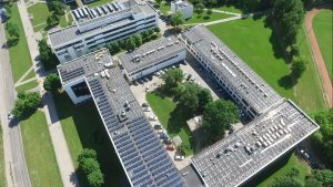 The solar energy plant installed in KTU campus will reduce the annual CO² emissions by 6 tonnes