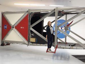 Julija Kravčenko, KTU student during the internship in NASA Ames Research Center