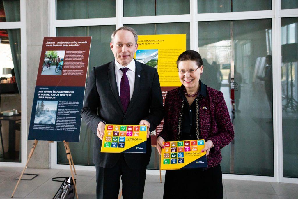 Swedish Ambassador opened the exhibition on sustainable development
