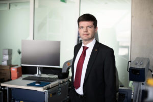 Dr Renaldas Raišutis, head of KTU team who researcher the effects of ultrasound for cancer drug delivery.