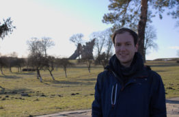 Erik Schake at the 9th Forth Monument